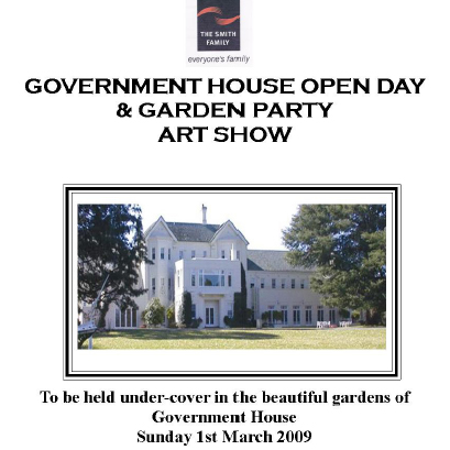 Smith Family Governement House Open Day and Art exhibition 2009