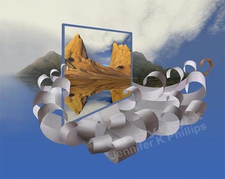 Prophetic art paper waves