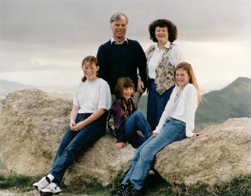 Photo of the Phillipos' family taken by the New Zealand photographer, Dave Evans of Havelock North, in 1997.