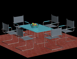 3dsMax tables chairs